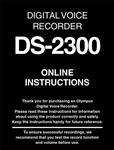 Olympus DS-2300 User Manual