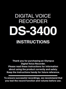 Olympus DS-3400 User Manual