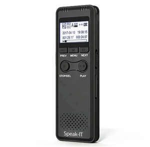 Speak-IT Premier Password Protected Mini Digital Voice Recorder 8GB
