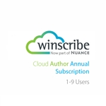 Nuance Winscribe Cloud Author Annual Subscription (1-9 Users)