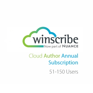 Nuance Winscribe Cloud Author Annual Subscription (51-150 Users)