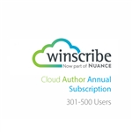 Nuance Winscribe Cloud Author Annual Subscription (301-500 Users)