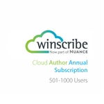 Nuance Winscribe Cloud Author Annual Subscription (501-1000 Users)
