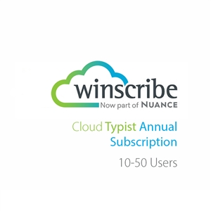 Nuance Winscribe Cloud Typist Annual Subscription (10-50 Users)