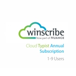 Nuance Winscribe Cloud Typist Annual Subscription (1-9 Users)