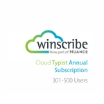 Nuance Winscribe Cloud Typist Annual Subscription (301-500 Users)