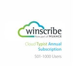 Nuance Winscribe Cloud Typist Annual Subscription (501-1000 Users)