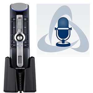 Olympus RecMic II RM-4110S USB Microphone with ODMS R7 Dictation Management Software