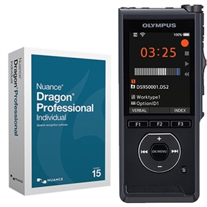 Olympus DS-9500 Bundle Inc Dragon Individual v15 Speech Recognition