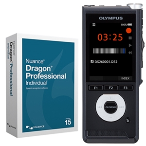 Olympus DS-2600 Digital Voice Recorder with Dragon Professional Individual