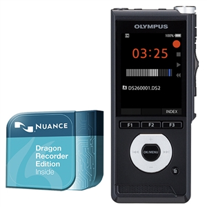 Olympus DS-2600 Digital Voice Recorder inc. Dragon Speech Recognition