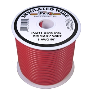 PI-81081S (50FT) 8 GA RED PRMRY WIRE