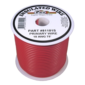 PI-81101S (75FT) 10 GA RED PRMRY WIRE