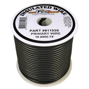 PI-81103S (75FT) 10 GA BLK PRMRY WIRE