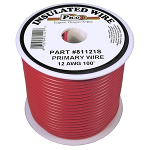 PI-81121S (100FT) 12 GA RED PRMRY WIRE