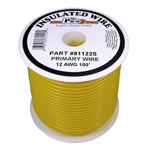 PI-81122S (100FT) 12 GA YEL PRMRY WIRE