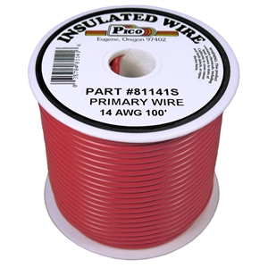 PI-81141S (100FT) 14 GA RED PRMRY WIRE