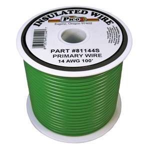 PI-81144S (100FT) 14 GA GRN PRMRY WIRE