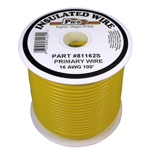 PI-81162S (100FT) 16 GA YEL PRMRY WIRE
