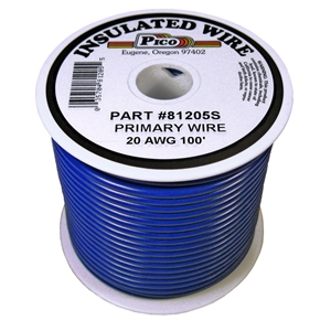 PI-81205S (100FT) 20 GA BLU PRMRY WIRE