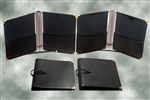 Folder: The Black Folder (choral) with Pencil Loop and Fastened Cross-strap (10 x 12 1/2). DEER RIVER FOLIO - folder (black)