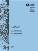 MAHLER, Gustav (1860-1911) - Symphony No.  4 in G (Final version, 1911) (Ed. Christian Riedel). BREITKOPF & HAERTEL