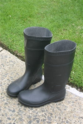 1 Pair Black Safety Boots - Size 9