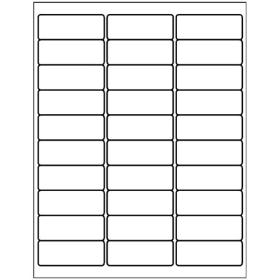 Address Labels 2 5 8 Quot X 1 Quot 30 Per Sheet