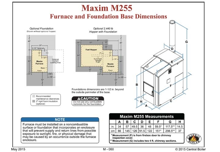 Central Boiler Maxim Indoor/Outdoor Pellet Furnace-Electric Ignition