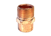 "Male Adapter, Copper, 3/4"" sweat x 3/4"" MIP fittings"