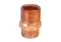 "Male Adapter, Copper, 1"" sweat x 1"" MPT fittings"
