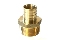 "PEX Adapter, Brass, 1"" PEX x 1"" MIP fittings"