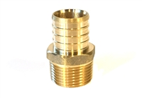 "PEX Adapter, Brass, 1"" PEX x 3/4"" MIP fittings"