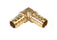 PEX 90° Elbow, Brass, 1/2""