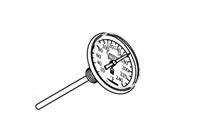 "Temperature Gauge, 1/2"" MPT"