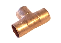 "Tee, Copper Pipe, 3/4"" x 3/4"" x 3/4"" sweat fittings"