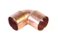 "90° Elbow, Copper Pipe, 3/4"" x 3/4"" sweat fittings"