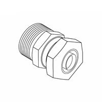 "Adapter, Compression Connector, 1/2"" PEX"
