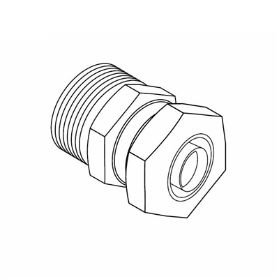 "Adapter, Compression Connector, 1/2"" PEX-AL-PEX"