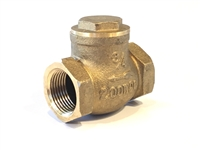 Swing Check Valve, Brass, 3/4""