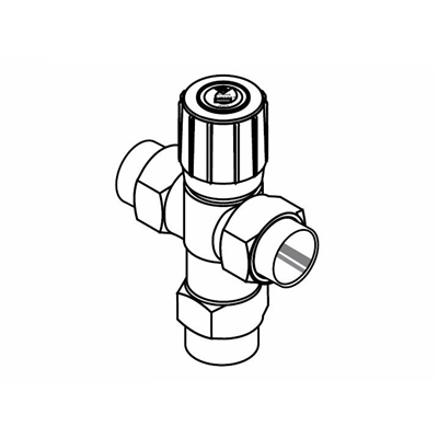 "Radiant Mixing Valve, 1/2"" NPT fittings"