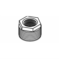 "Hex Bushing, Black, 3/4"" x 1/2"""