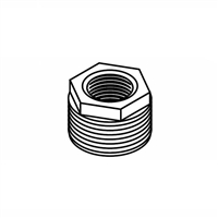 "Hex Bushing, Black, 1-1/4"" x 1/2"""