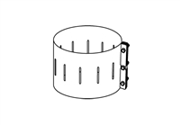 Chimney Band Clamp Kit, 8""