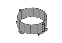 Chimney Base Brace Kit, 8""