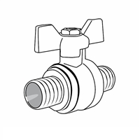 "Ball Valve, 1/2"" PEX, Full Port"