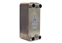 "Plate Heat Exchanger, 5""x12"" x 50 plates, 1-1/4"" Ports"