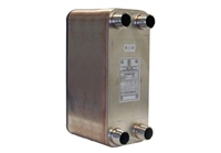 "Plate Heat Exchanger, 5""x12"" x 70 plates, 1-1/4"" Ports"