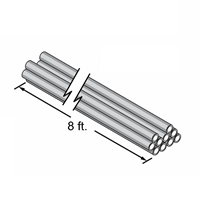 "Central PEX 1"" Pipe, 8' Straight Sections, 10 per bag"