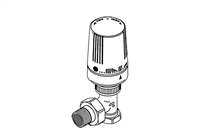 "Thermostatic Radiator Valve, Body and Head, 1/2"" Vertical"